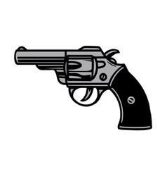 Colorful vintage tattoo concept revolver vector