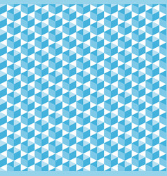 cubic isometric shapes in blue halftone seamless vector image
