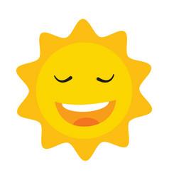 cute sun icon on white vector image