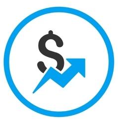 Dollar Growth Icon vector image