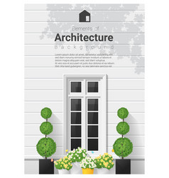 Elements of architecture window background 20 vector