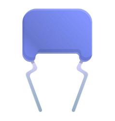 Equipment capacitor icon cartoon style vector