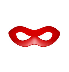 Eye mask in red design vector