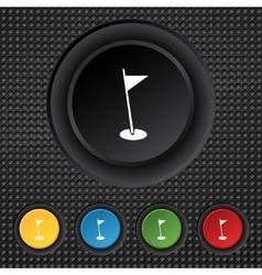 flag hole sign icon Sport symbol Set colour vector image
