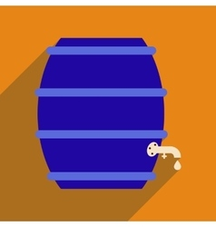 Flat web icon with long shadow keg of beer vector