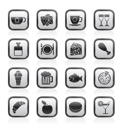 Food and Drink and beverage icons vector image