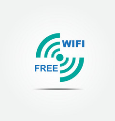 free wifi icon1 vector image