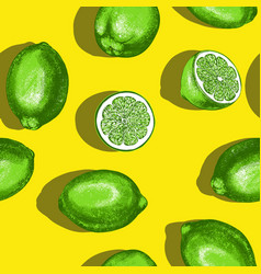 fruit lime seamless texture wallpaper background vector image