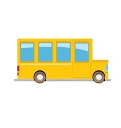 funny cartoon orange school bus vector image