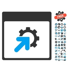 Gear Integration Calendar Page Icon With vector