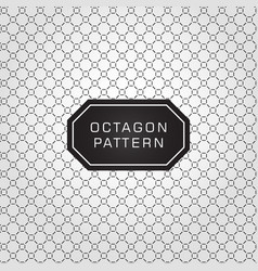 geometric octagon line pattern background and vector image