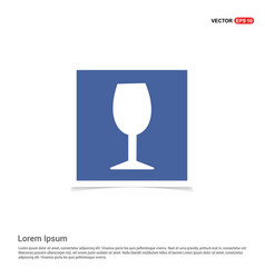 glass icon - blue photo frame vector image