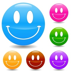 Hand drawn smile face vector image