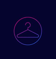 Hanger icon linear vector