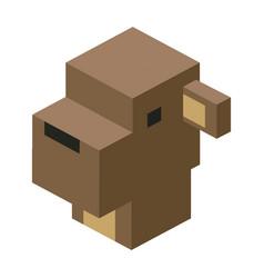 Head sheep modular animal plastic lego toy blocks vector