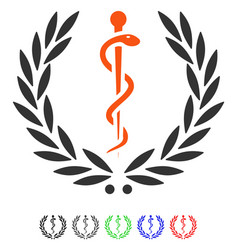 Healh care emblem flat icon vector