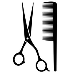 Isolated scissors and comb vector