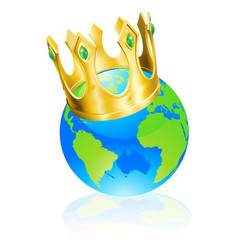 king of the world concept vector image