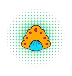 Kokoshnik icon in comics style vector image