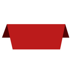 labels and stickers sign red banners on white vector image