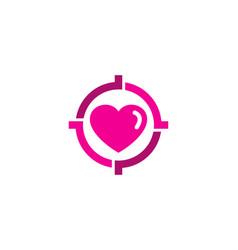 Love target logo icon design vector