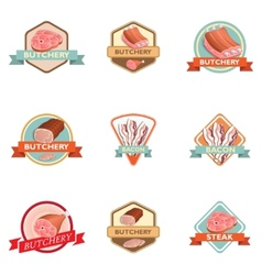 Meat label retro vector image