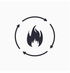 Metabolic process icon burn icon vector