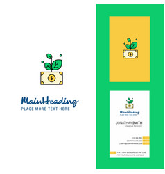 money plant creative logo and business card vector image