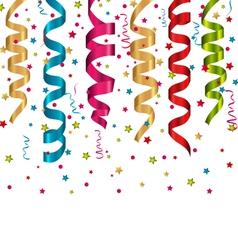 Multicolor curling streams and confetti for vector
