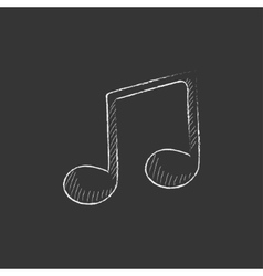 Music note Drawn in chalk icon vector image
