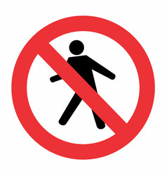 No pedestrian traffic sign vector