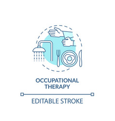 Occupational therapy concept icon vector