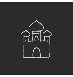 Orthodox church icon drawn in chalk vector image