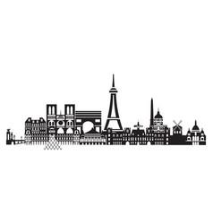 paris city skyline 4 vector image