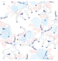 pattern with deer vector image