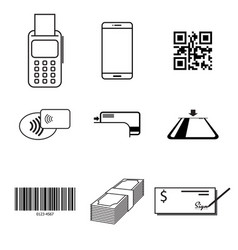 payment type icon set vector image