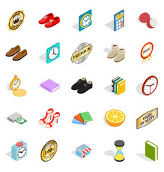 perfection icons set isometric style vector image