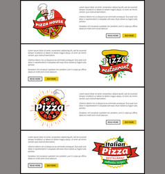 Pizza house website collection vector