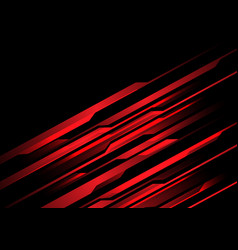 red light line futuristic on black design vector image