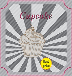 Retro cakes label vector