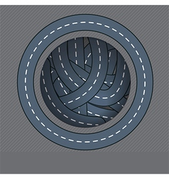 Road circle black on vector