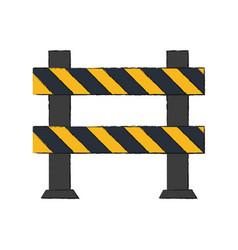 Roadblock road safety icon image vector