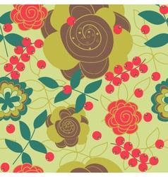 seamless flower texture vector image