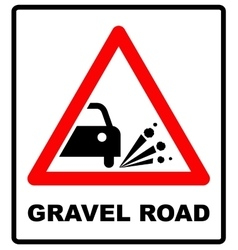 Set of variants a Blowout of gravel - road sign vector
