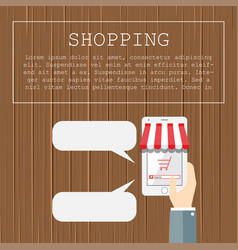 shopping flat design concepts for business and vector image