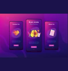 stroke app interface template vector image