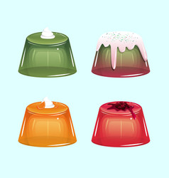 Sweet jelly set vector