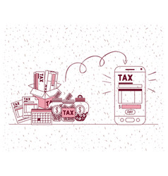 tax day set icons vector image