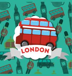 Visit london travel vector