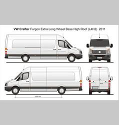 Volkswagen crafter delivery van l4h2 2011 vector